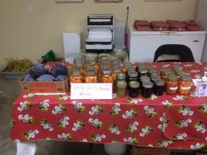 Nature's Estate preserves and veggies