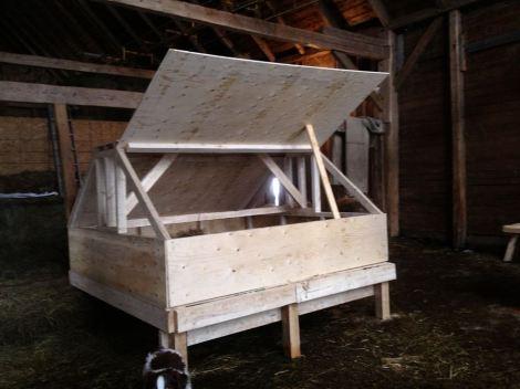 New multi-purpose home for MacCurdy Farm chickens.