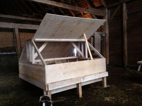 New multi-purpose home for MacCurdy Farm chickens.