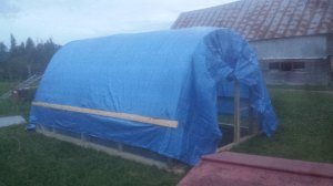 All tarped up and ready to go