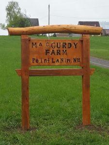 MacCurdy Farm Timber Framed Cedar sign